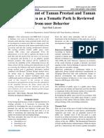 The Development of Taman Prestasi and Taman BMX Surabaya as a Tematic Park Is Reviewed from user Behavior