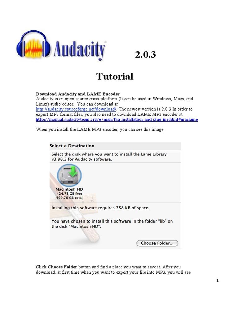 AUDACITY BAIXAR MP3 LAME