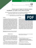 Evaluación de dos técnicas para el registro de relación céntrica mandibular