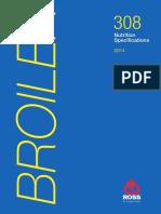 Ross 308 Broiler Nutrition Specs 2014