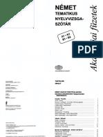 Német Tematikus Nyelvvizsga-szótár