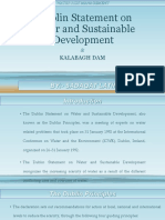 Dublin Statement on Water and Sustainable Development & Kalabagh Dam