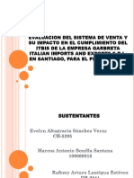 Evaluacion Del Sistema de Venta y Su Impacto en El Cumplimiento Del Itbis de La Empresa Garbreta Italian Import and Export s.r.l, En Santiago, Para El Periodo 2015.