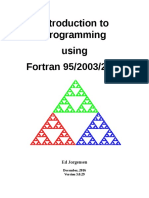 Introduction to Porgramming Using Fortran-Ed Jorgensen