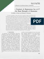 Acidic Dissociation Constant of Ammonium Ion at 0 to 50 C