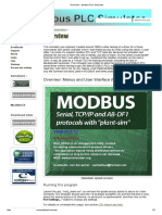 Overview - Modbus PLC Simulator