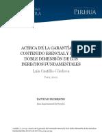 Acerca Garantia Contenido Esencial Doble Dimension Derechos Fundamentales