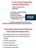 Petroleum Reservoirs Production From Petroleum Reservoirs