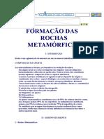 FORMAÇÃO DAS ROCHAS METAMÓRFICAS.doc