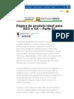 Página de Produto Ideal Para SEO e UX – Parte 01
