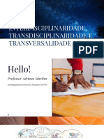 Interdisciplinaridade, transdisciplinaridade etransversalidade - Blog Pedagogia Para Concursos