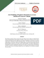 ALE Blast Modeling Reinforced Concrete Paper No 11