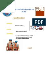 Informe Seguridad en Obras