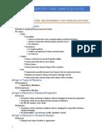 CHEM 1031 Final Exam Study Guide