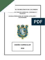 Diseño Curricular de La E.P. de Turismo Hotelería y Gastronomía 2016