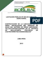 Bases para la Licitacion  Agrorural 2015