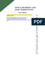 Braidotti-Difference, Diversity, Nomadic Subjectivity