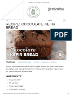 Chocolate Kefir Bread Recipe - Cultures for Health