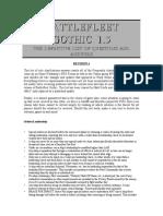 Battlefleet Gothic 1.5 DefinitiveListOfQuestionAndAnswers