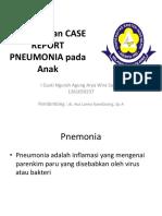 Referat Dan Case Report Pneumonia Pada Anak
