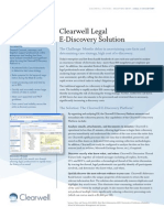 Clearwell Legal E-Discovery Solution