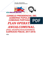 Plan Operativo Anual Comunal (Poac).