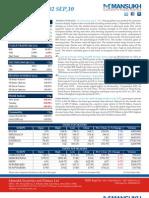 Stock Market analysis 2/9/2010