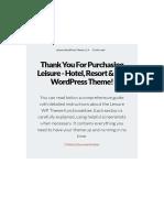 Leisure WordPress Theme Documentation v.1.5