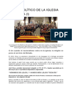 Sesgo Politico de La Iglesia Catalana (I)