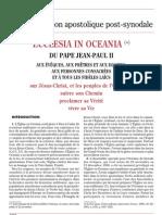 Ecclesia in Oceania (16 déc. 2001)