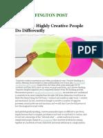 18 Habits of Creative People