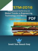 International Conference ICGTETM 2016 Proceedings