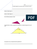 Similar Triangles Guided Notes