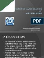 A Presentation of Major Training at all india radio,bhopal