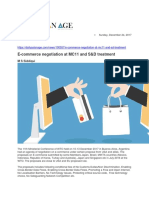 E-commerce Negotiation at MC11 and S&D Treatment