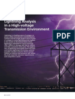 Lightning Analysis in a High-Voltage Transmission Environment