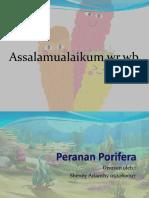 peranan porifera