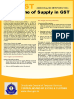 Time of Supply GST