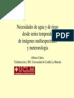 2014-09-23 Necesidades de Agua y de Riego Desde Imágenes Multiespectrales y Meteorología. Conceptos