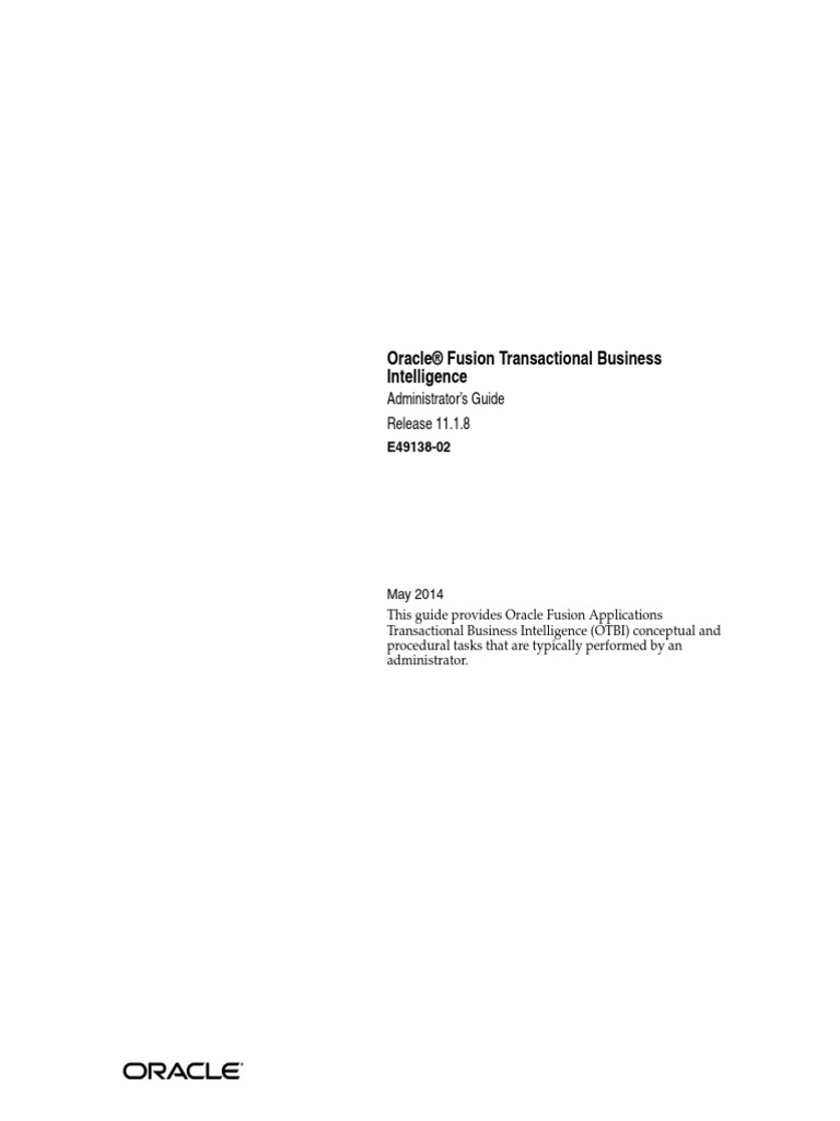 OTBI Document | Business Intelligence | Oracle Database