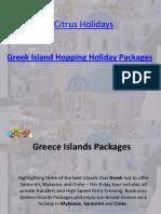 Greek Island Hopping | Greece Islands Packages