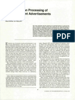 The Information Processing of Pictures in Print Advertisments