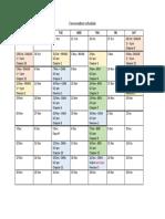 Conver Schedule