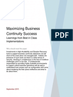 Maximizing Business Continuity Success
