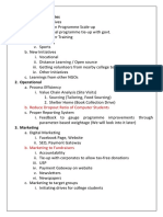 CSP Roadmap
