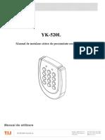YK 520L Manual