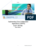 300 085-Exam- Implementing Cisco Collaboration Applications (CAPPS)