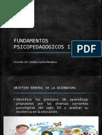 Fundamentos Psicopedagogicos II Clase 1