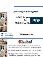 PGCEi Postgraduate Certificate in Education - University of Nottingham - Teaching Qualification
