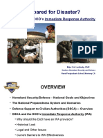 Prepared for Disaster, DOD Immediate Response Authority IRA Brief Leshinsky 11 Dec 06
